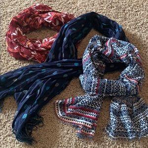 Lot of 3 scarves-Gap, LOFT, and boutique